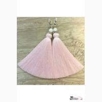 Серьги-кисти (нежно-розовые) Артикул: kist_50
