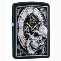 Зажигалка Zippo 29854 Skull and Clock