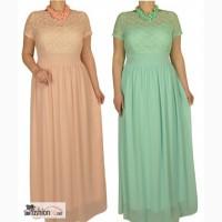 Вечернее платье, цвет пудра и мята РАЗМЕРЫ 48, 50, 52, 54 в Москве