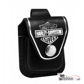 Чехол для зажигалки Zippo на петле Harley Davidson HDPBK