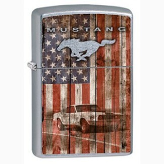 Зажигалка Zippo 79623 Ford Mustang and American Flag