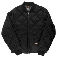 Куртка мужская стёганая Dickies Diamond Quilted Black
