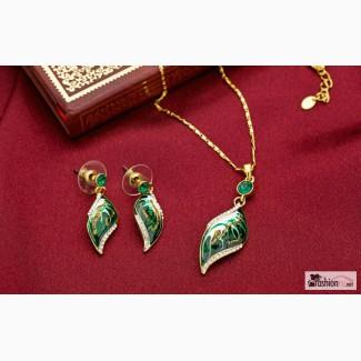 Цепочка и серьги Зеленое золото в Санкт-Петербурге