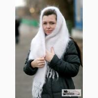 Ажурные пуховые шали и пуховая пряжа поч в Москве