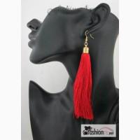 Модные серьги-кисточки, красные (Е010) в Ростове-на-Дону