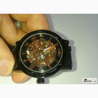 Черные часы с позолотой в Хабаровске