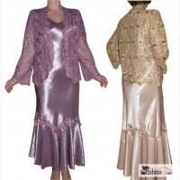 Платье с ажурной накидкой. Размеры 58, 60, 62, 64 в Москве