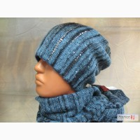 Итальянские вязанные шапки ,береты и шарфы Vizio коллекция 2014 года