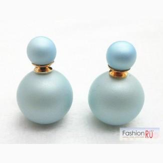 Серьги Dior, нежно-голубые E057 в Ростове-на-Дону