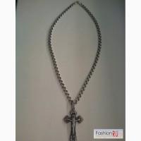 Продам серебрянную цепь с крестом в Новокузнецке