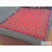 Старинный антикварный платок Барановской фабрики