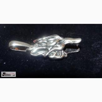 Кулон голова волка серебро 925 пробы в Ростове-на-Дону