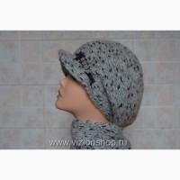 Итальянские зимние вязаные кепки Визио Vizio Италия и шарфы