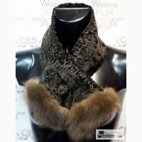 Женский меховой шарф из каракуля и собол в Москве