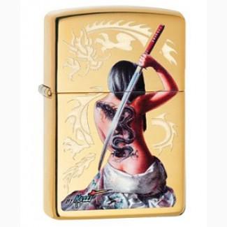Зажигалка Zippo 29668 Mazzi Dragon Lady With Sword