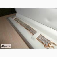 Браслет позолота 585 с мелкими бриллиант в Барнауле