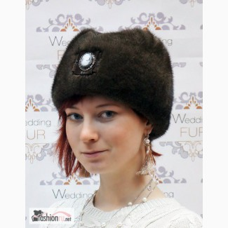 Меховая шапка норковая пилотка купить в Москве