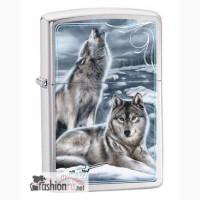 Зажигалка Zippo 28002 Mazzi Winter Howling Wolves
