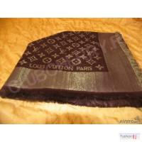 Шаль Louis Vuitton Lurex золотая с люрексом блестящее мерцание