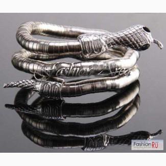 Гибкий браслет-ожерелье в виде змеи
