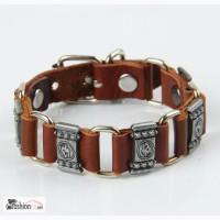 Кожаный браслет Wolf Silver, RM83 в Ростове-на-Дону