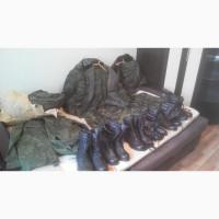 Продам оптом за полцены армейский камуфляж (х/б), утепленный (зимний), берцы (ботинки)