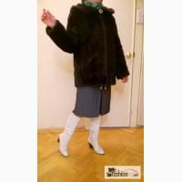 Шуба норковая с капюшоном. Размер 44-46. в Москве