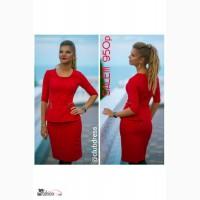 Оригинальное платье с баской Артикул: Ам2011
