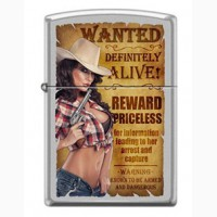 Зажигалка Zippo 206 Wanted Country Girl 2