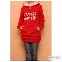 Теплое красное худи с капюшоном DressXs Артикул: A782-1 в Пензе