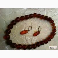 Ожерелье и серьги из янтаря Прибалтика в Волгограде