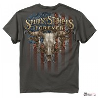 Футболка Buckwear Spurs and Stripes Forever