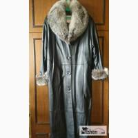 Пальто из натуральной кожи с чернобуркой в Москве