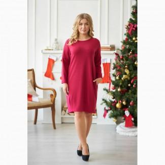 Платье из ангоры Шарлиз (красное)