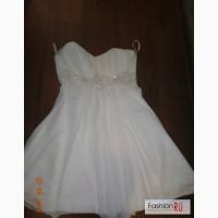 Свадебное платье короткое белое в Челябинске