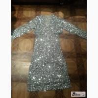 Платье + болеро все в серебряных паетках в Калининграде