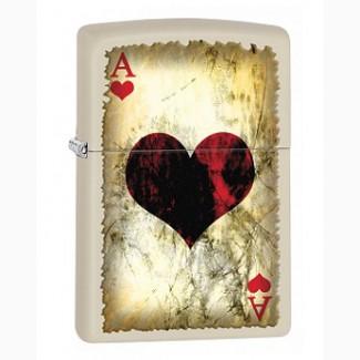 Зажигалка Zippo 78669 Ace Of Hearts Worn