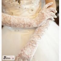 Перчатки свадебные белые кружевные в Челябинске