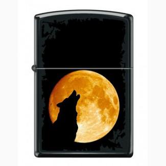 Зажигалка Zippo 6026 Wolf Howling at Moon