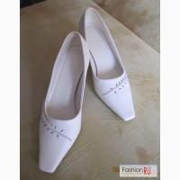 Свадебные туфли Луиза Перес,Италия Белые кожаные в Калининграде