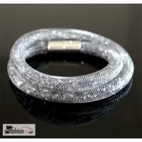 Браслет Stardust Silver двойной, R626 в Ростове-на-Дону