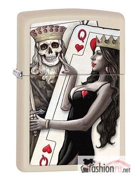 Зажигалка Zippo 29393 King Queen of Hearts