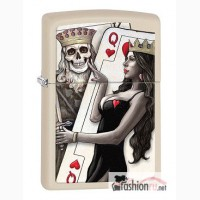 Зажигалка Zippo 29393 King Queen of Hearts