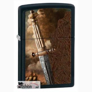 Зажигалка Zippo 28305 Sword of War Black Matte