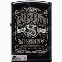 Зажигалка Zippo 218 Snake Bite Whiskey Black Matte