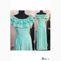 Длинное платье с воланами Артикул: Ам8031-2