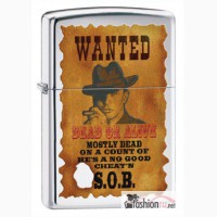 Зажигалка Zippo 28289 Wanted Poster High Polish Chrome