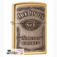 Зажигалка Zippo 254BJD 428 Jack Daniels Brass Emblem