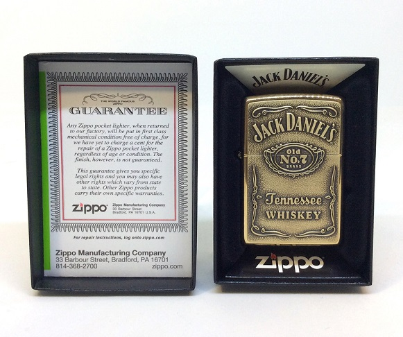 Фото 2. Зажигалка Zippo 254BJD 428 Jack Daniels Brass Emblem