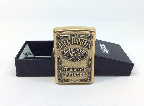 Фото 3. Зажигалка Zippo 254BJD 428 Jack Daniels Brass Emblem